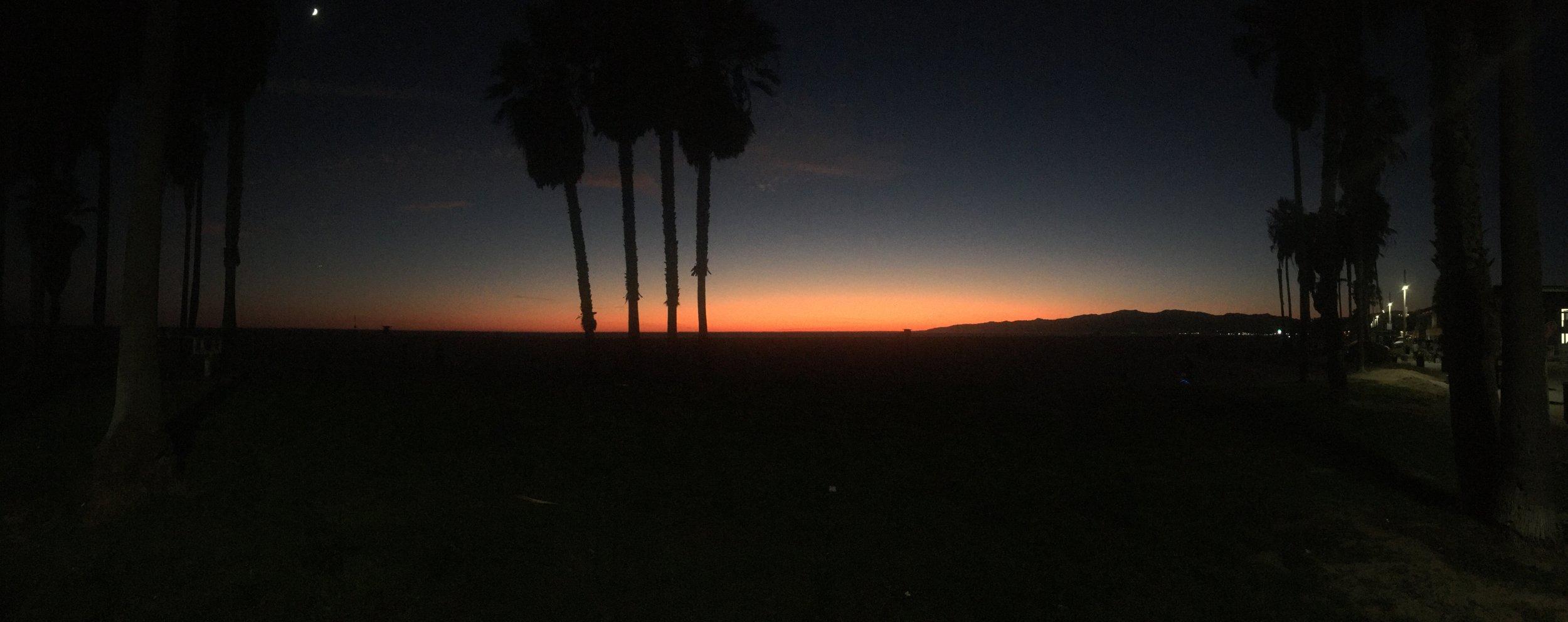 sunsets in Santa monica.JPG