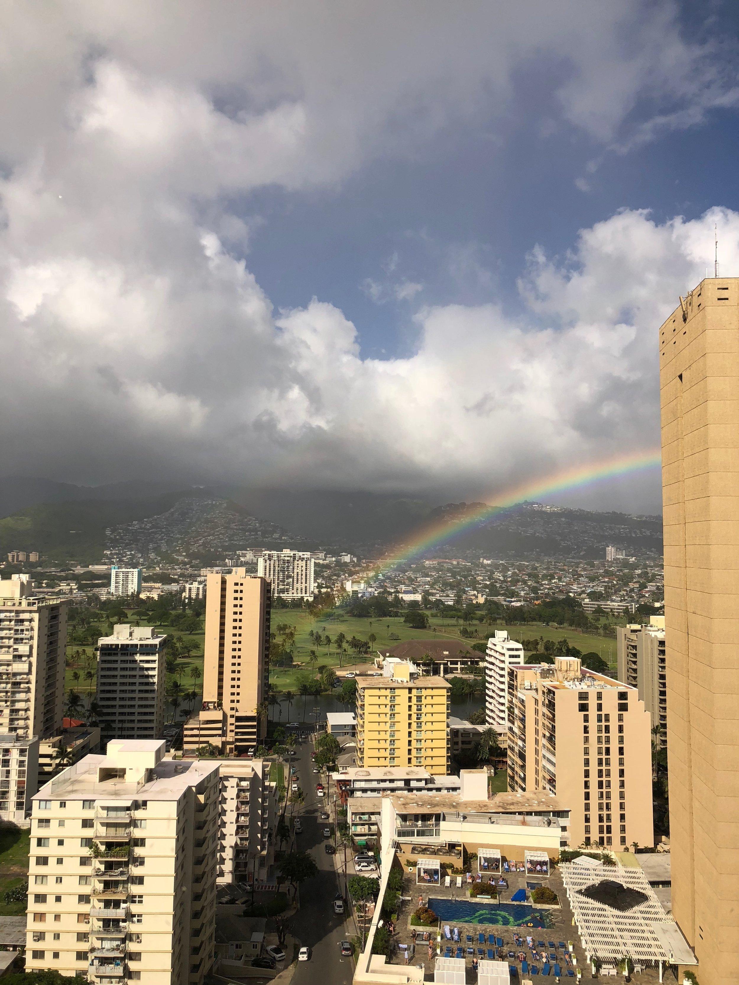 Hawaiin Rainbows in Honolulu