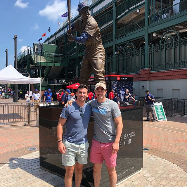 As lifelong baseball fans this one was long overdue #WrigleyField #GoCubsGo Big W for the C's #BrothersWeekend19