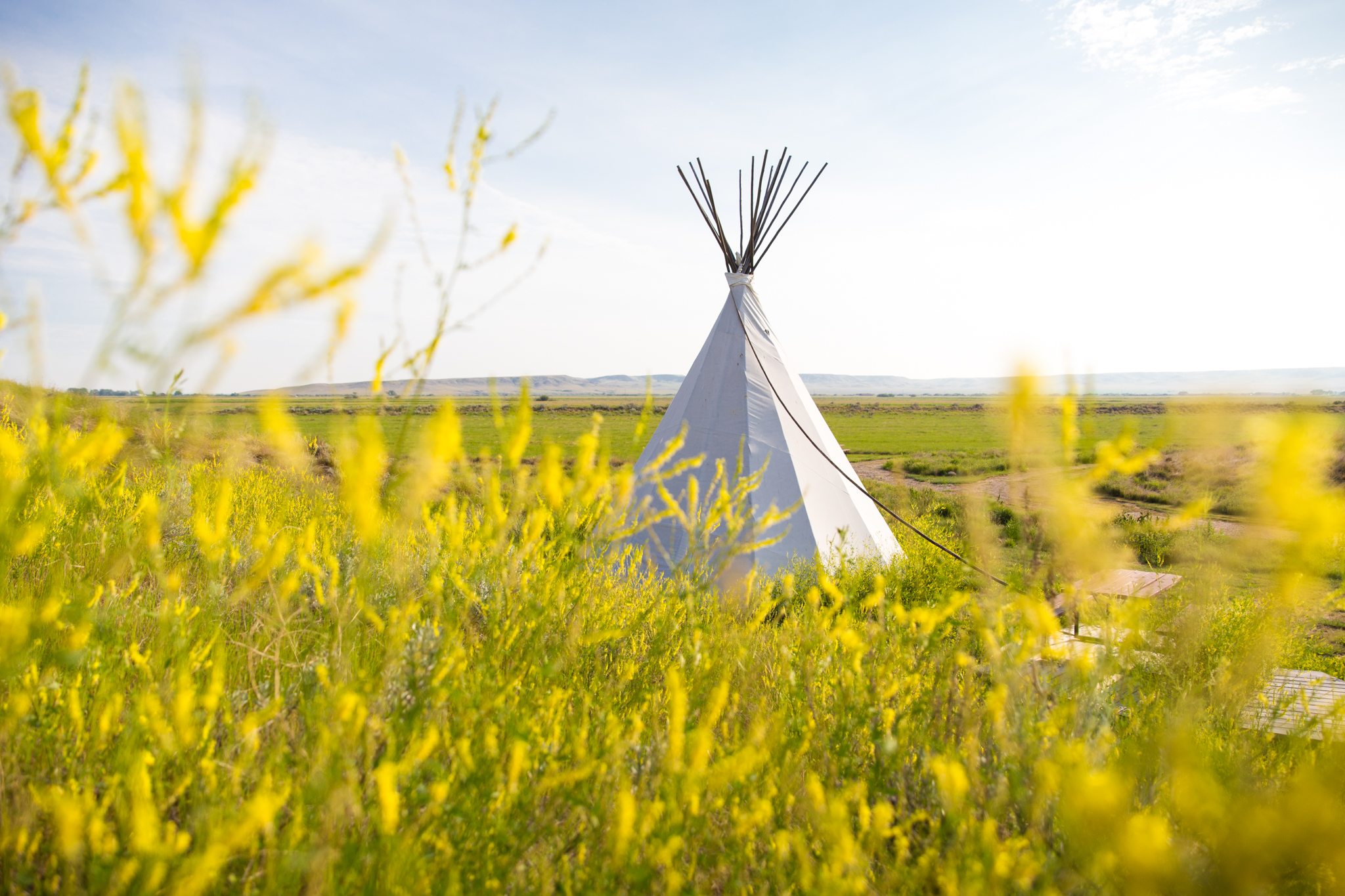 Tipi, the crossing resort. Grasslands national park