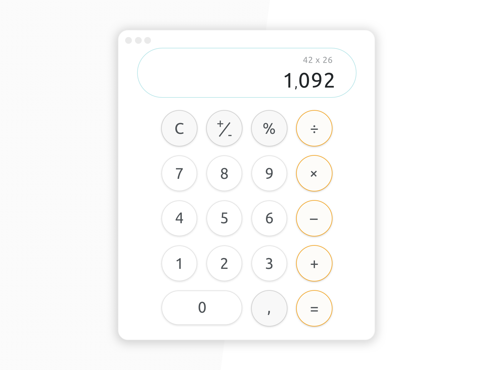 With this challenge I wanted to create a widget that's simple and elegant using a light ui.