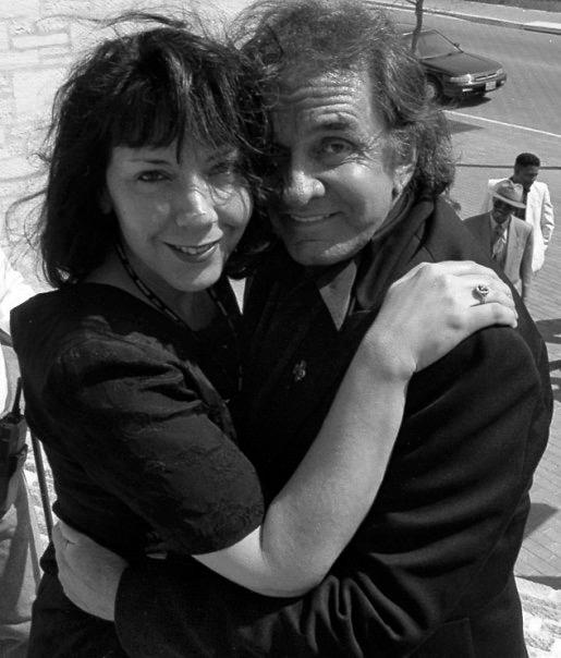 Jo Rae and Johnny Cash. Photo by Martha Grenon