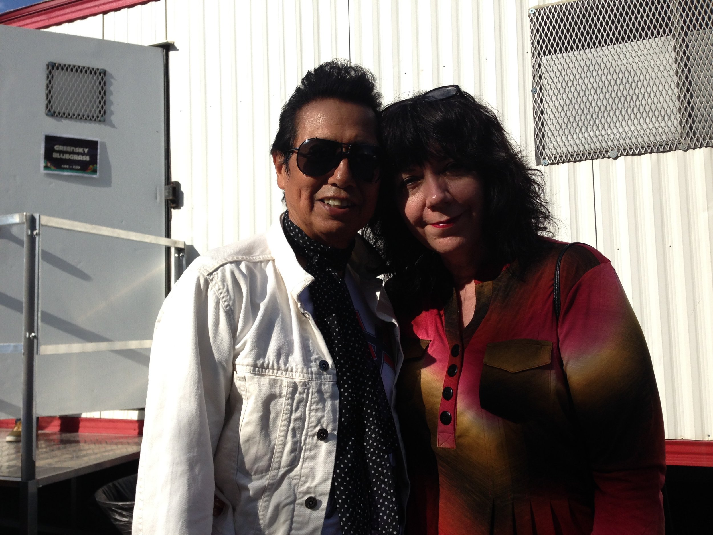 Alejandro Escovedo and I at ACL Music Festival 2013