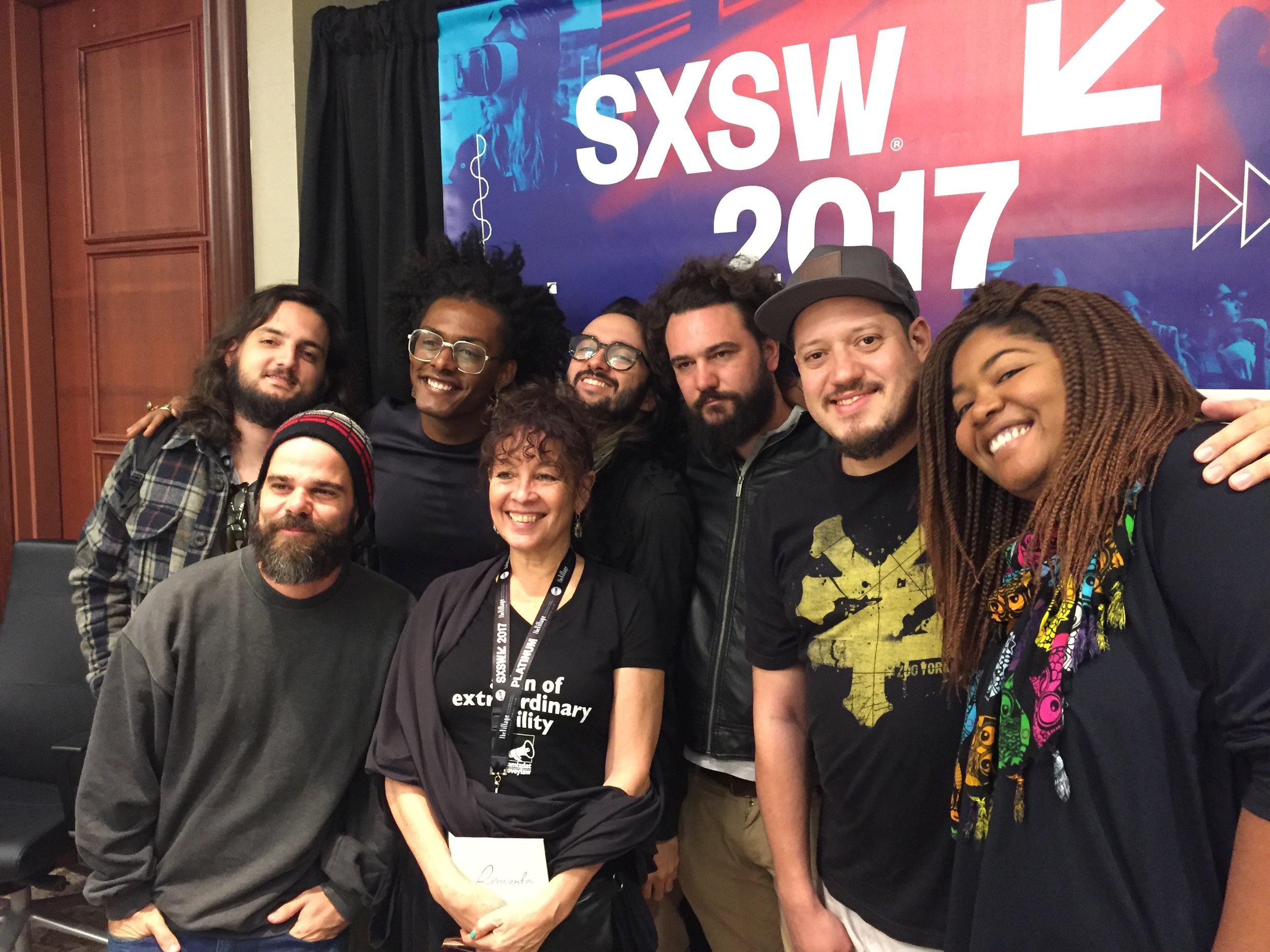 Liniker (Brazil) my client and new friends SXSW 2017