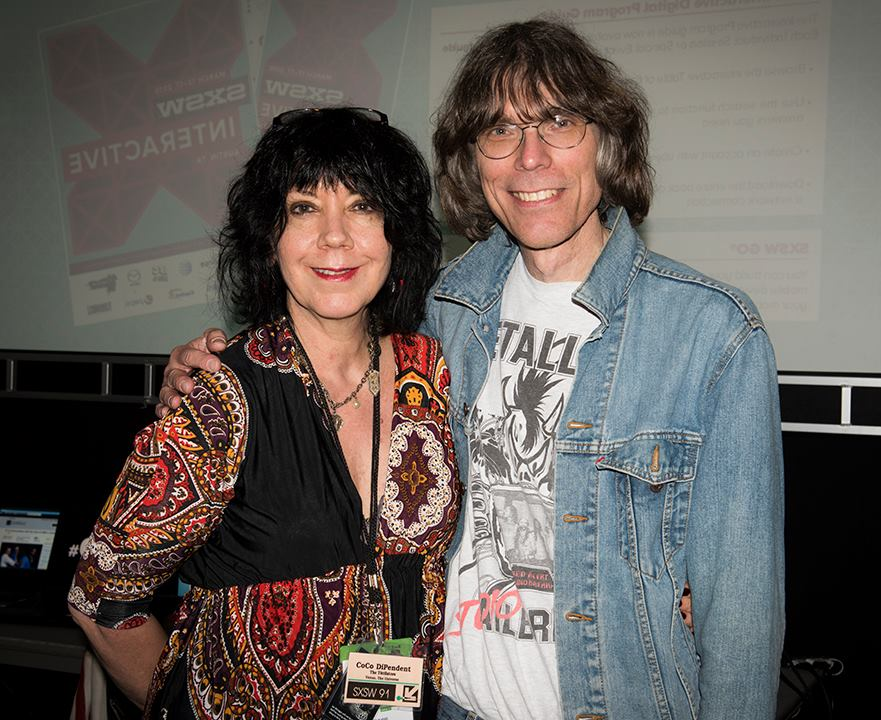 David Fricke and I at SXSW 2015. We were on a Ian 'Mac' McLagan panel together.
