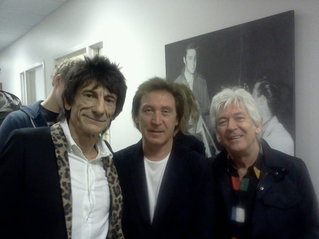Ronnie Wood, Kenny Jones and Ian 'Mac' McLagan in Cleveland, Ohio for their Rock n' Roll Hall of Fame Induction 2012.