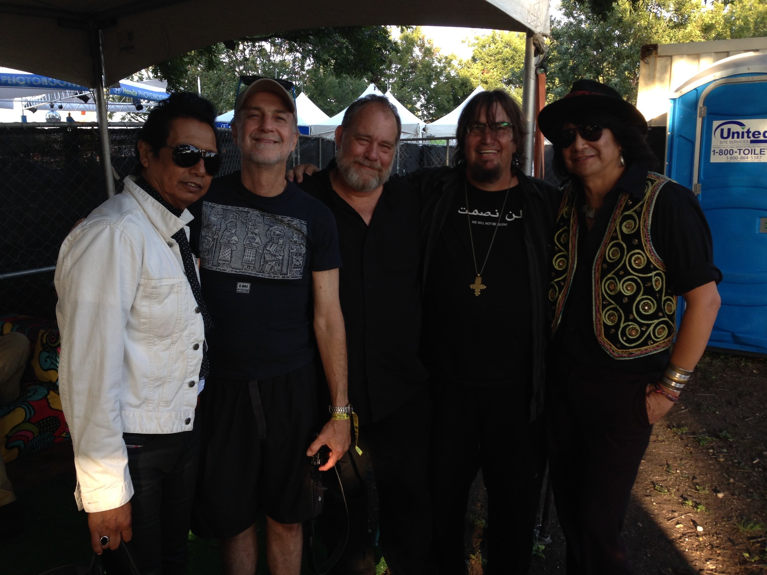 True Believers backstage at ACL Music Festival 2013.