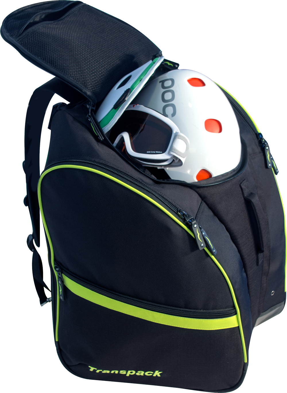 Inner compartment fits your helmet, goggles, and all your other protective gear