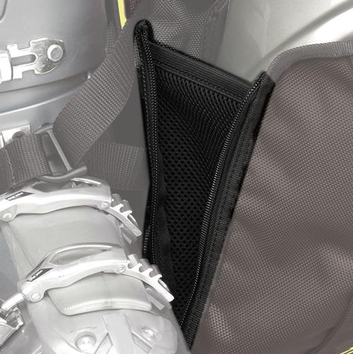 Zipper Gusset: Opens to accommodate a helmet.