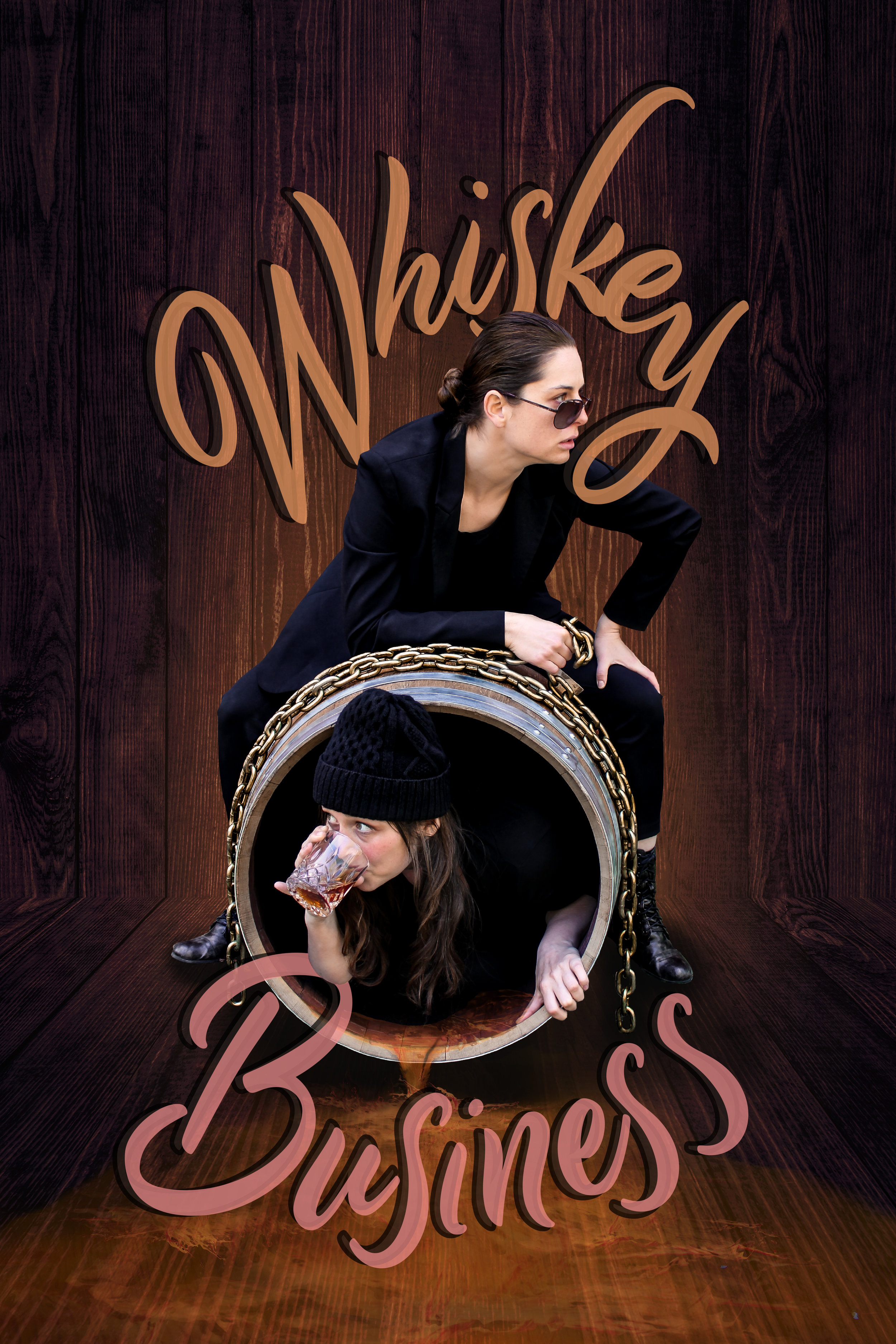 "Whiskey Business - Two women break into a distillery to steal a barrel of whiskey. Everything goes wrong and one of them ends up locked inside the barrel. A dark physical comedy fusing theatre and escape art.Including a live ""underwhiskey"" escape stunt, this is theatre for the bold."