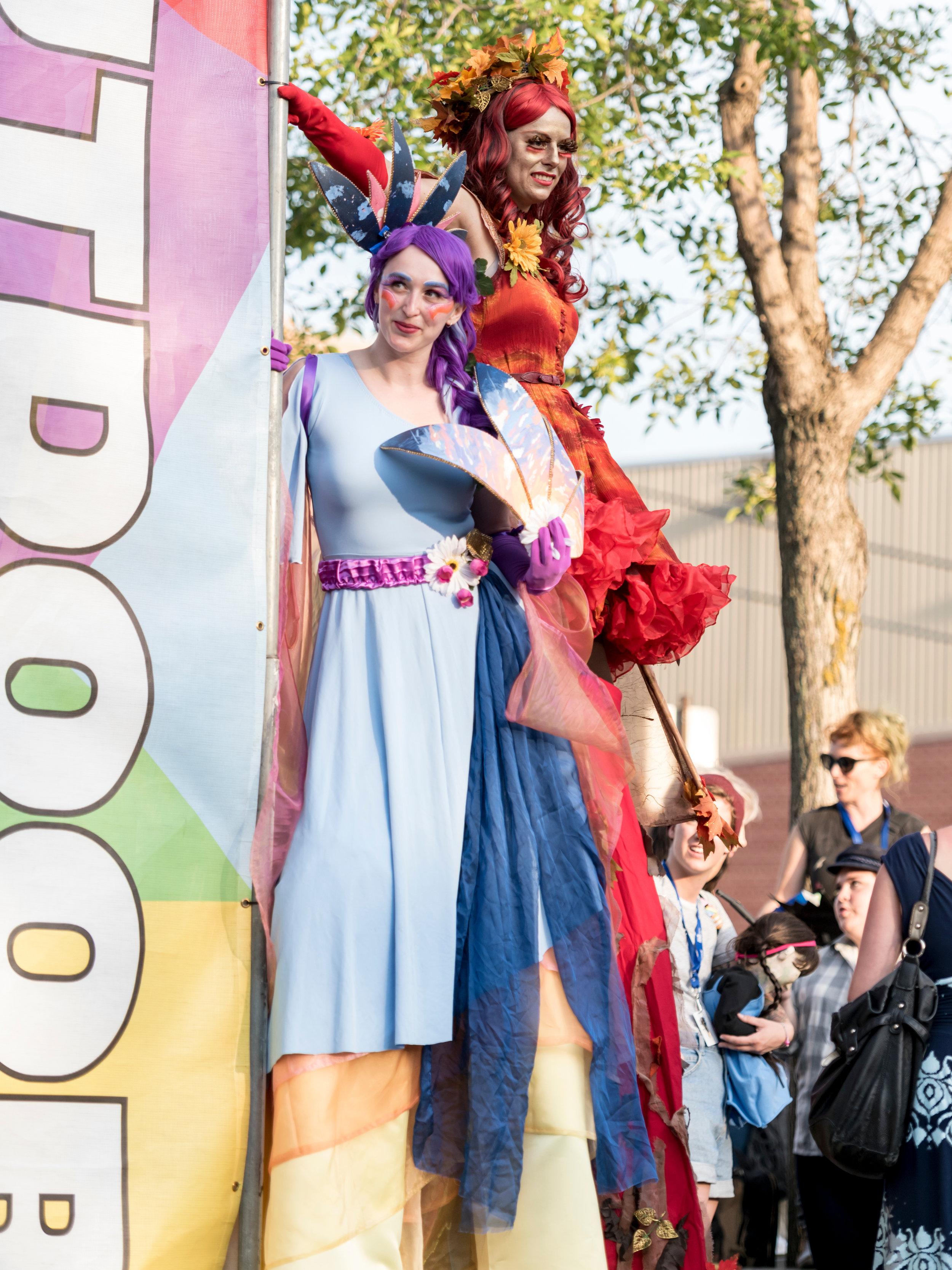 Summer and Autumn Fairies - Edmonton Fringe Opening Ceremonies Photo by Nancy Price