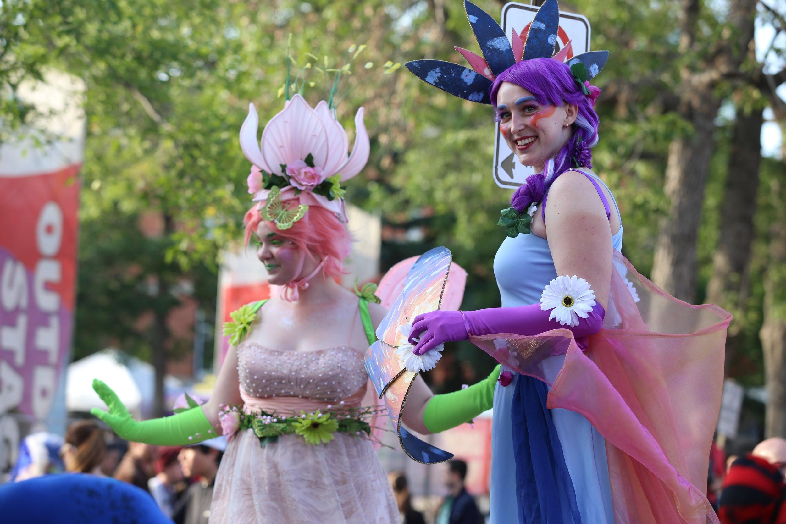 Spring and Summer Fairies - Edmonton Fringe Opening Ceremonies Photo by Nancy Price