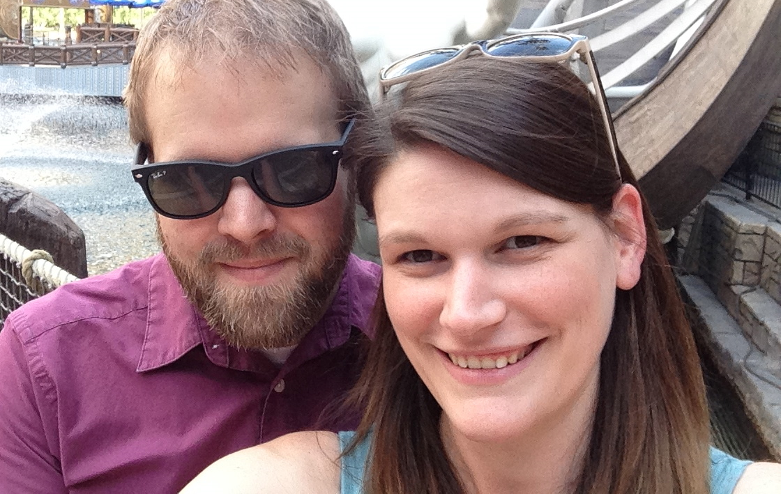 Obligatory Vegas selfie...can you tell how hot it is? We were miserable.