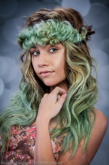 Color/Style by Heather Lankford. Make Up by Sarah Alvarado. What a perfect SEA-CREATURE!