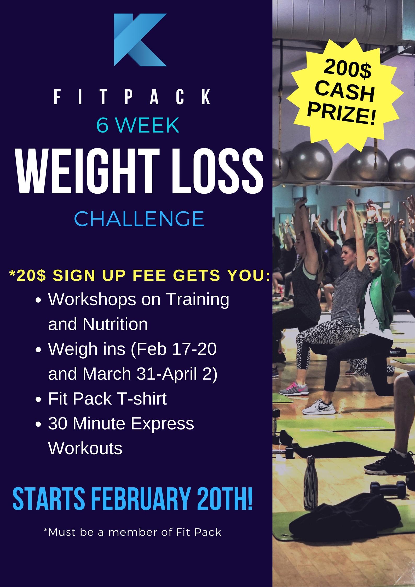 6 week weight loss challenge klub 20 west island montreal gym