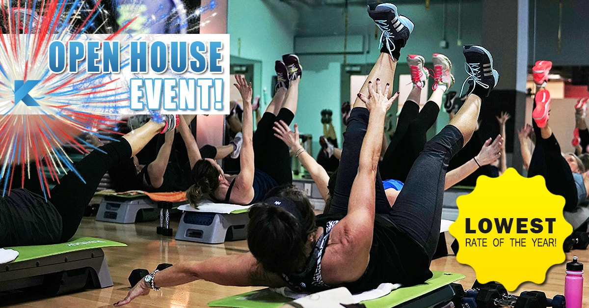women class aerobics open house event lowest rate of the year