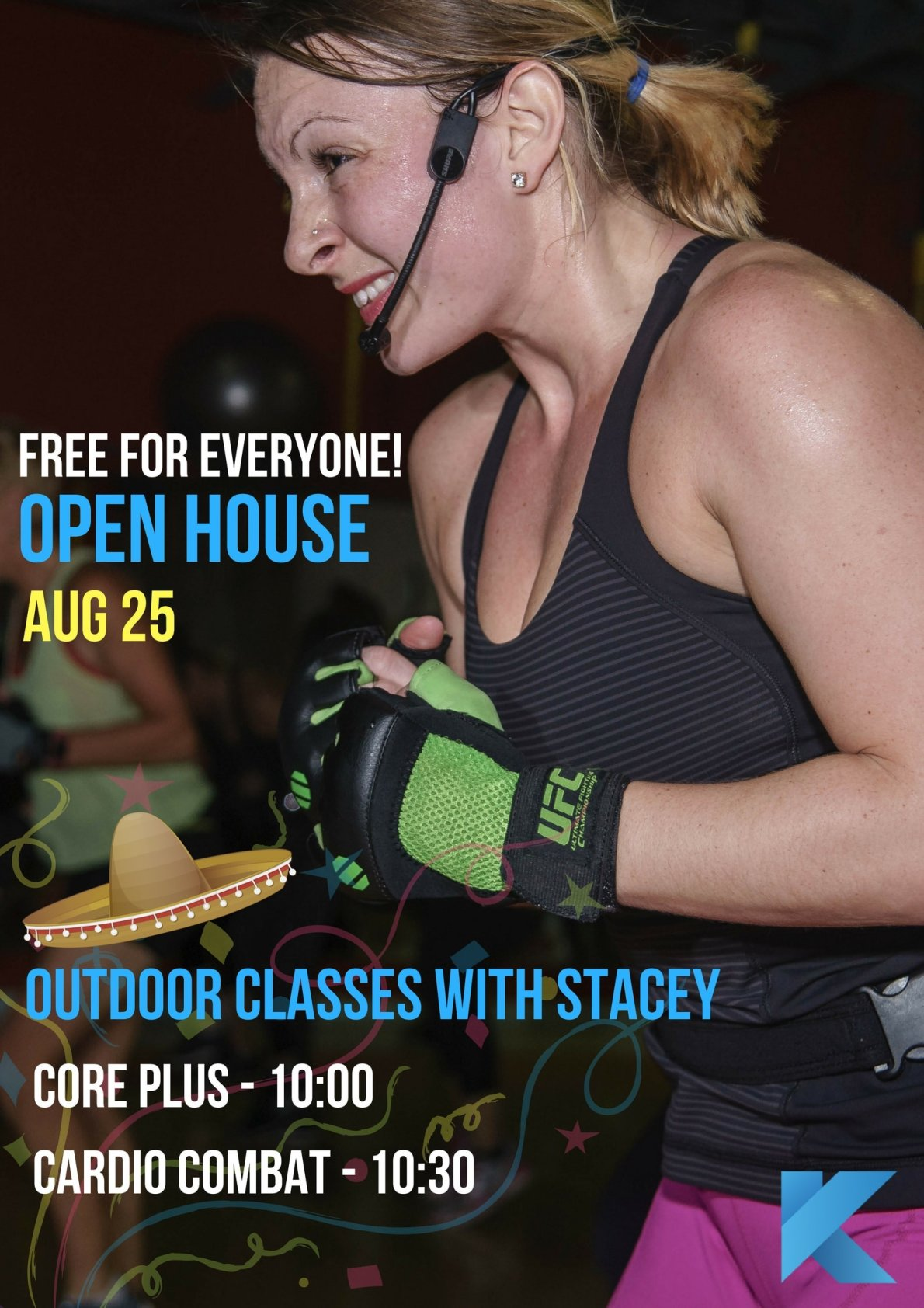 stacey aerobics exercise class instructor open house free for everyone