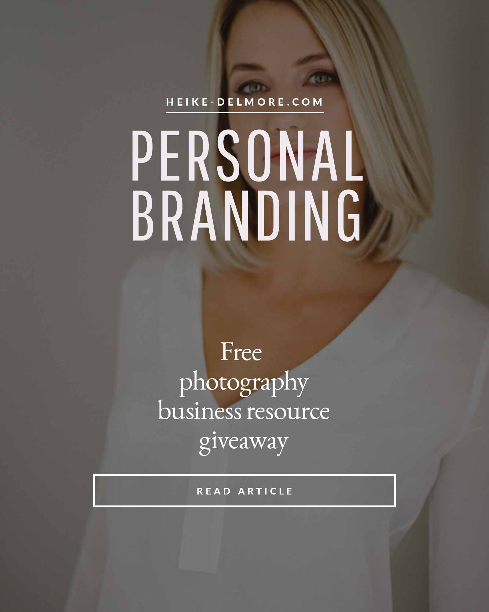 Free Photographer Resource Personal Branding
