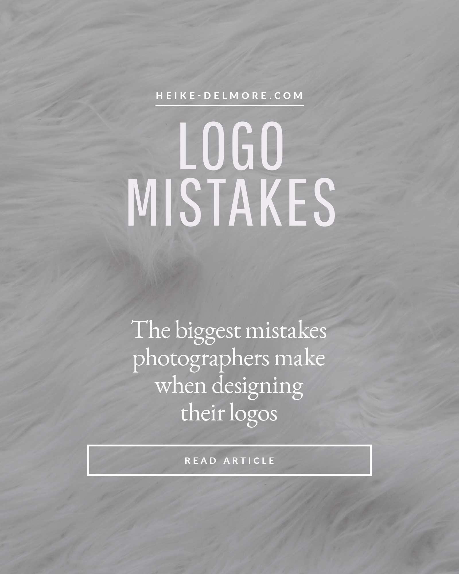 Logo design mistakes photographers make Heike Delmore Education
