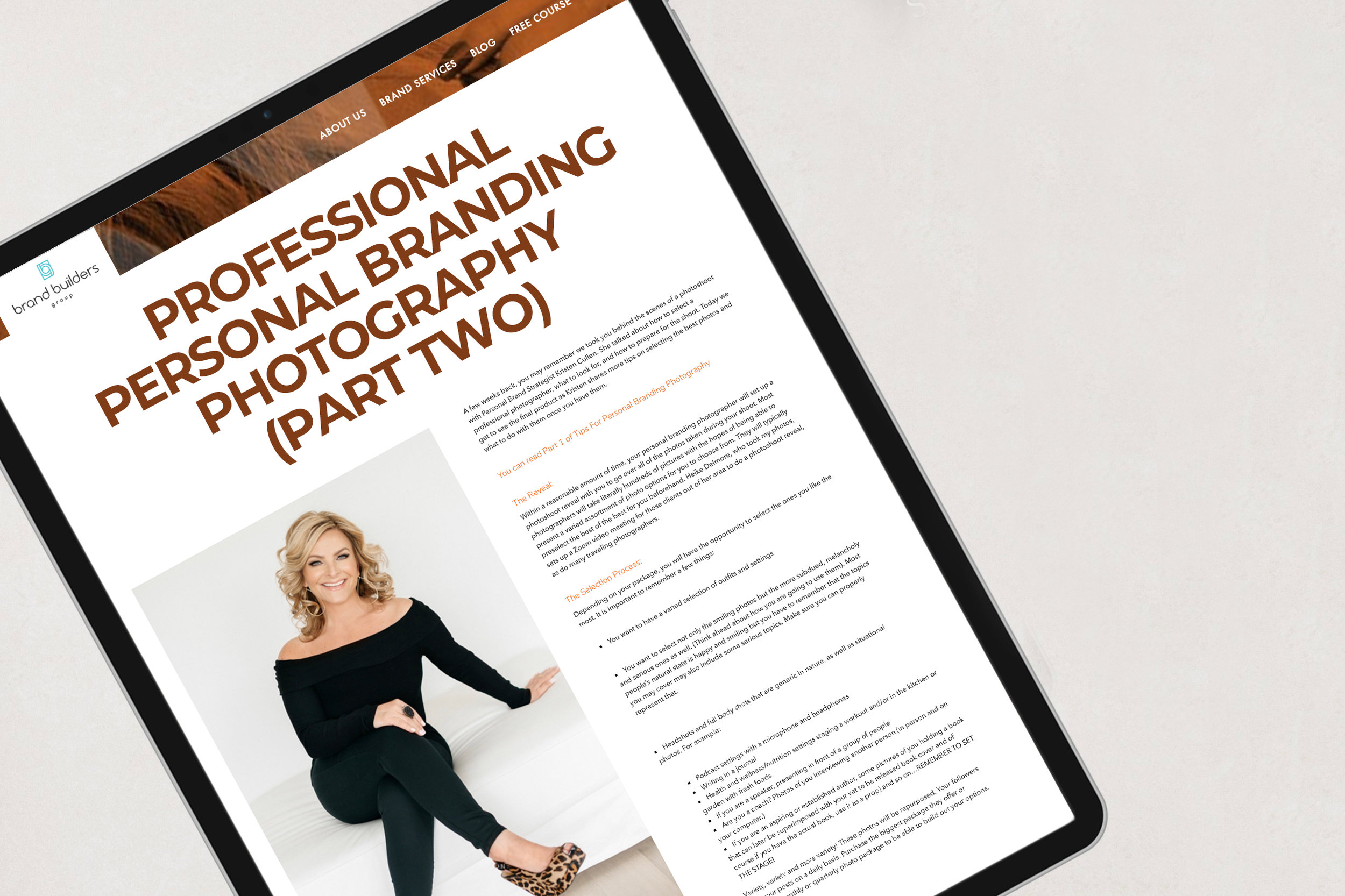 Personal Branding Photographer Heike Delmore Article