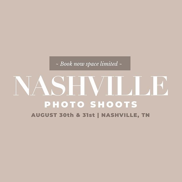Need to update your Personal Branding photos? I'll be in Nashville, TN and have a few openings August 30th and 31st. I'd love to hear more about you. Click the link in my bio for more information! { Limited space - see link for availability }