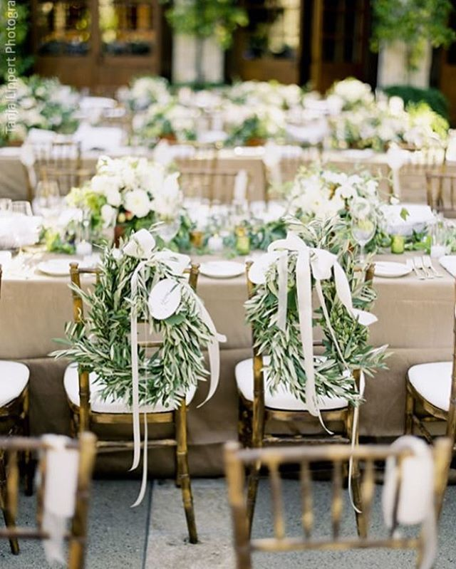 His & Her Chairs 🌿😍 designed by @waterlilypond #TheNewModernBride