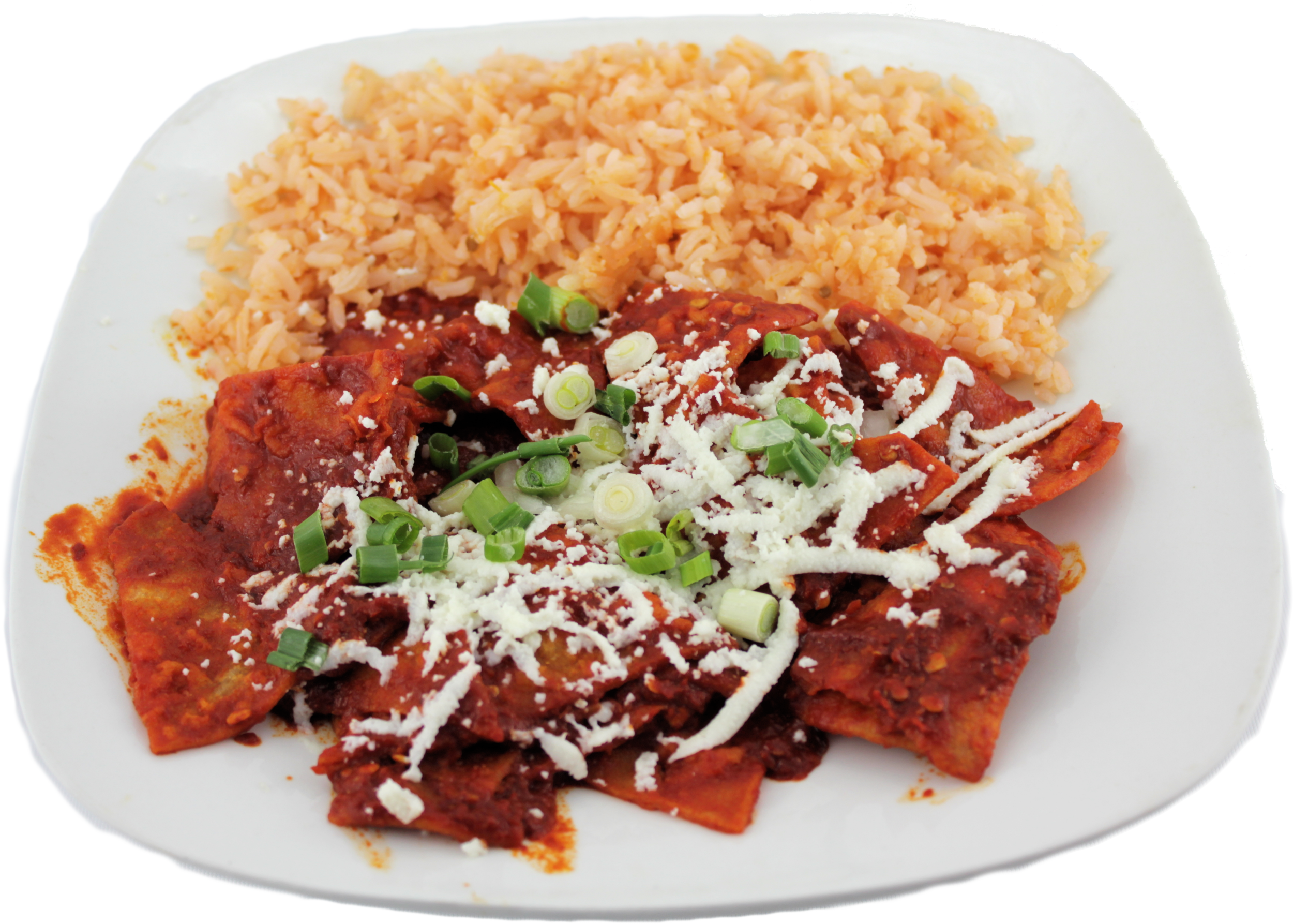 Chilaquiles  Red sauce or green sauce $5.99