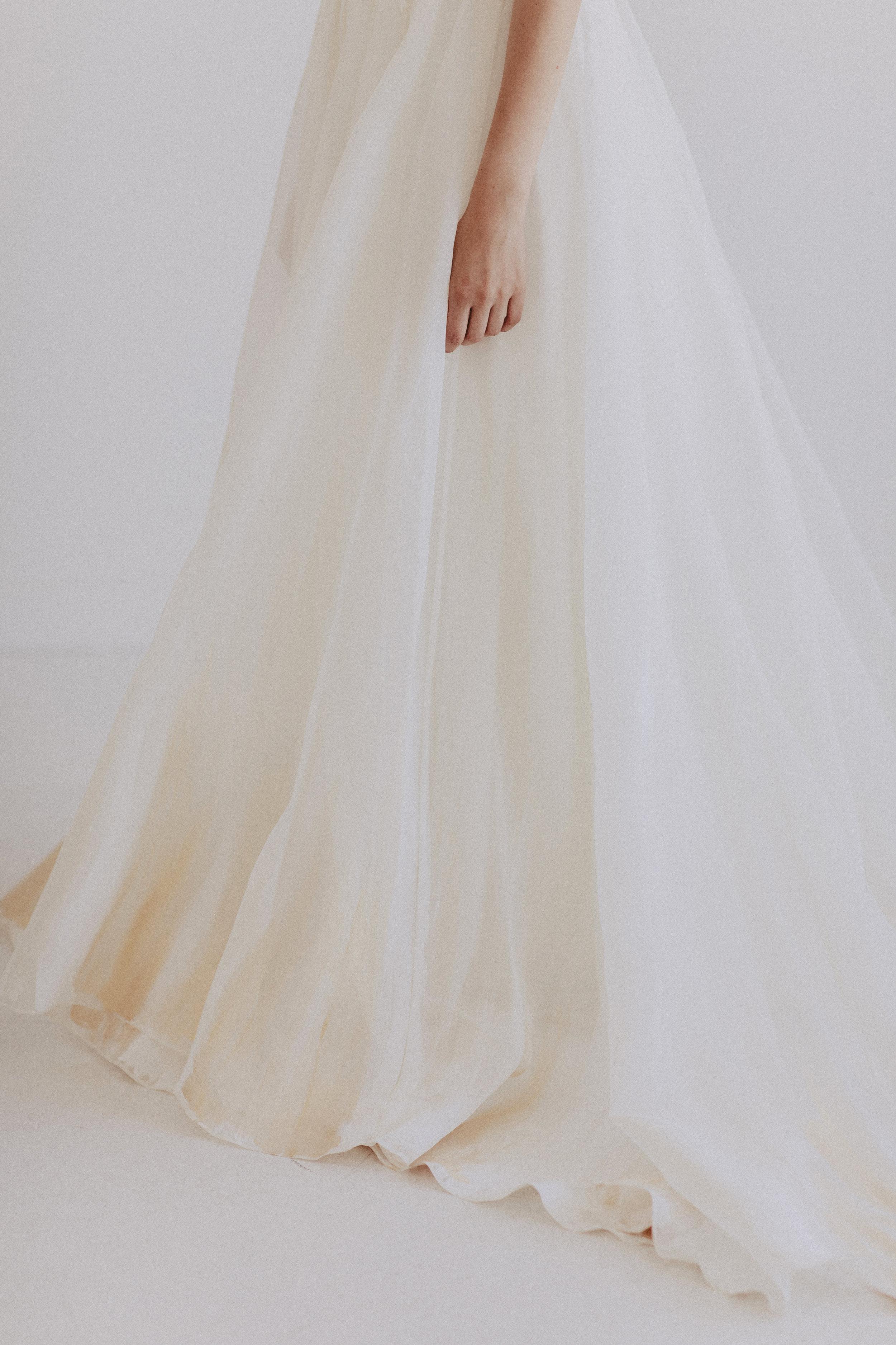 Dolly by Chantel Lauren hand painted organza silk wedding gown