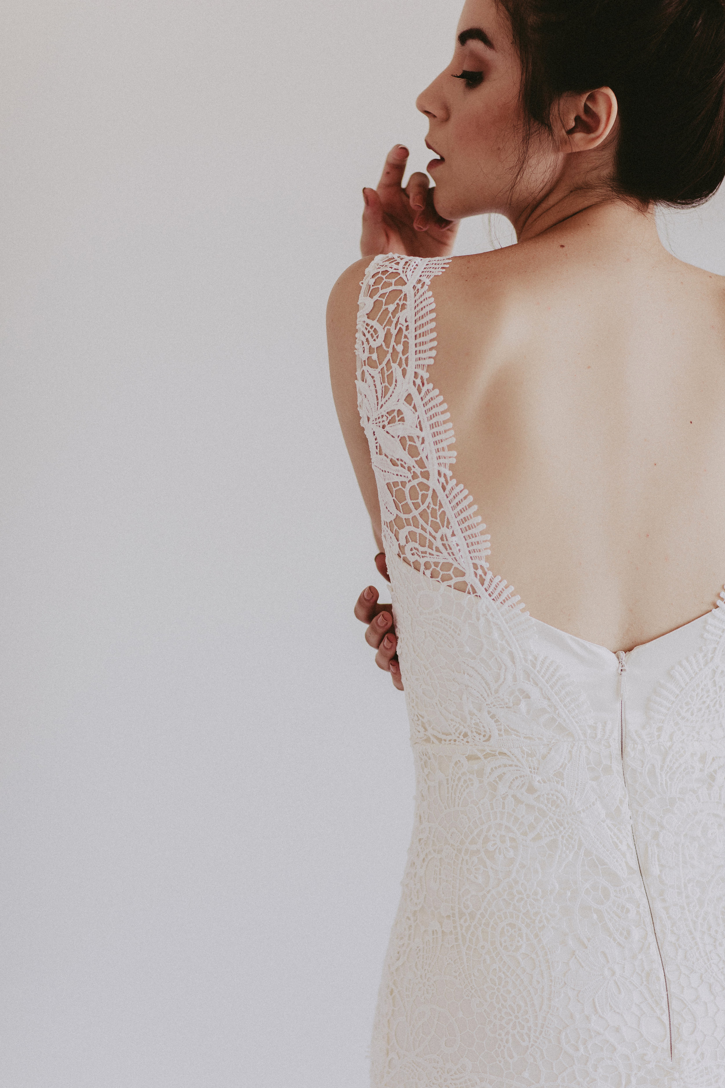 Emmylou by Chantel Lauren lace wedding gown