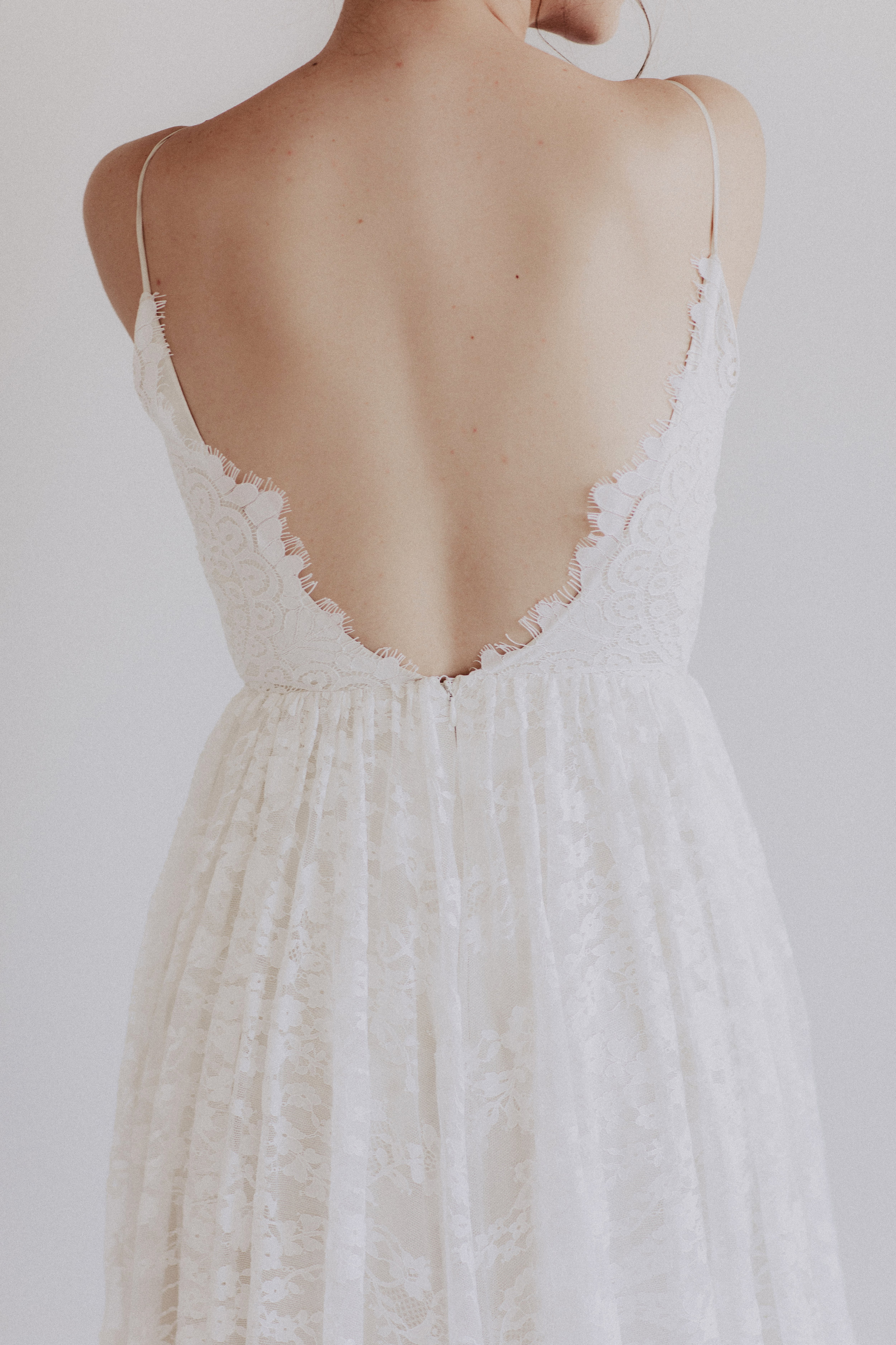 Annie O by Chantel Lauren lace wedding gown a line