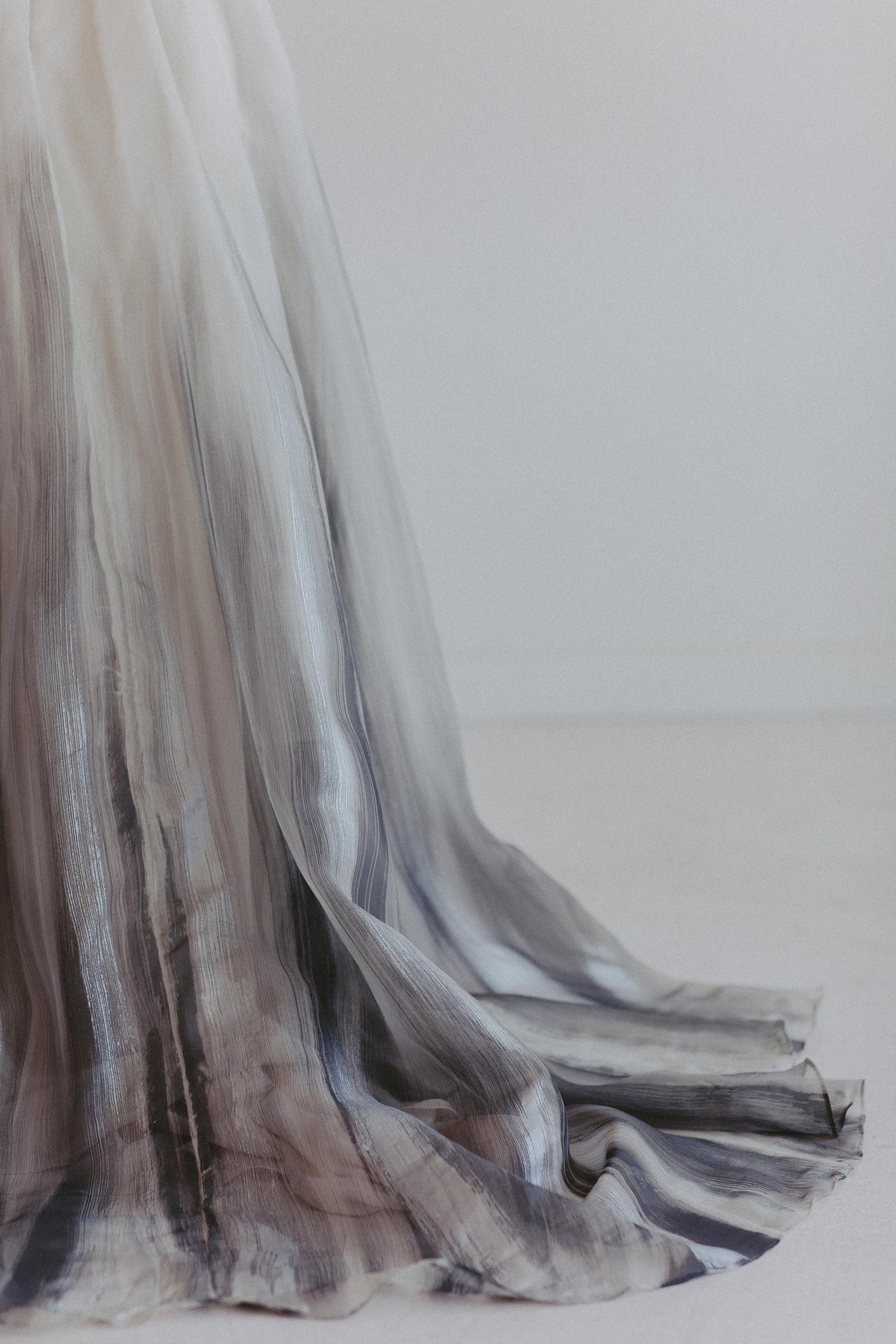 Brindle hand painted skirt by Chantel Lauren wedding gown bride