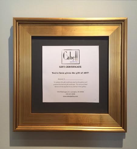 Gift Certificate Cabell Gallery