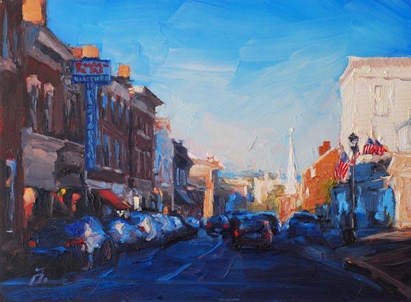 """Main Street Twilight"" by Amy Donahue"
