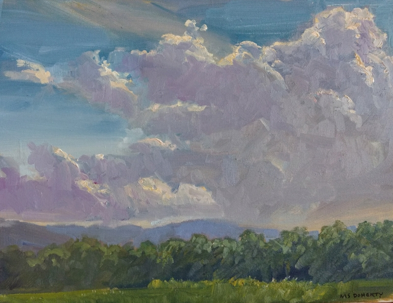 Billowing Clouds Over Virginia