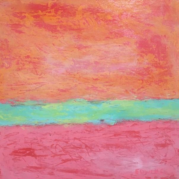 Pink Line - 12x12 - $390