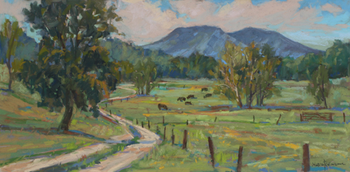 Pastureland and House Mountain 10x20 Pastel Maria Reardon.jpg