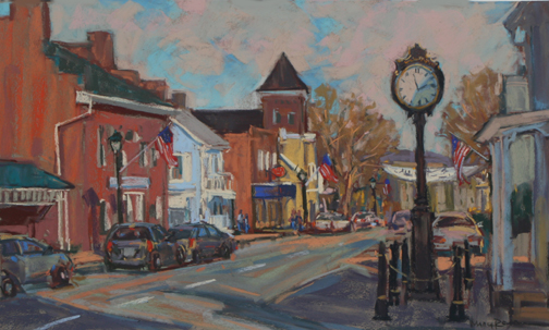 View of Main Street 12x20 Pastel Maria Reardon.jpg