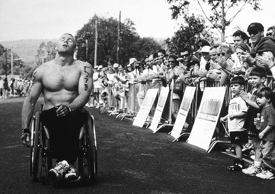Nepean Triathlon 1994 finish