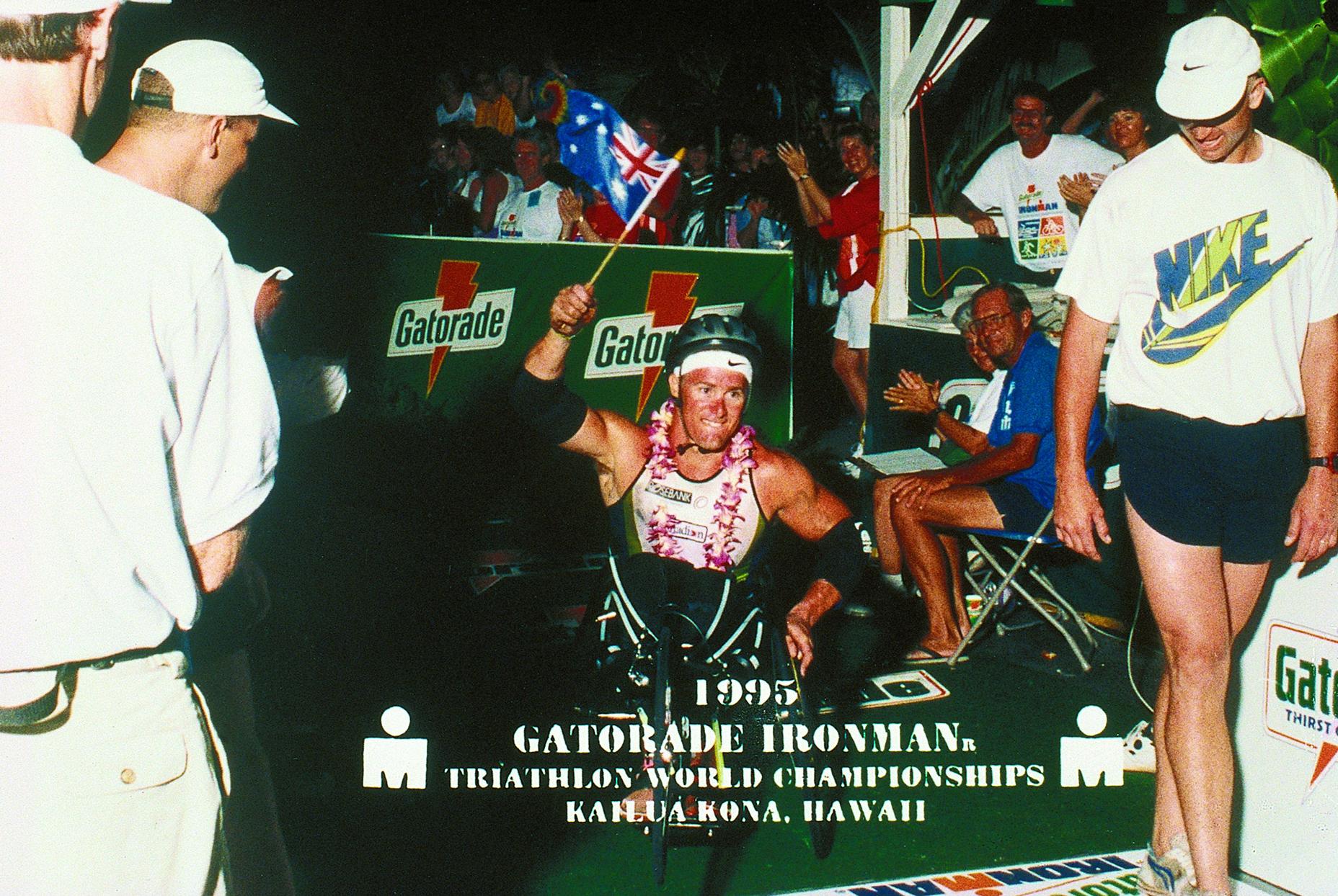 Hawaiian Ironman 1995 finish