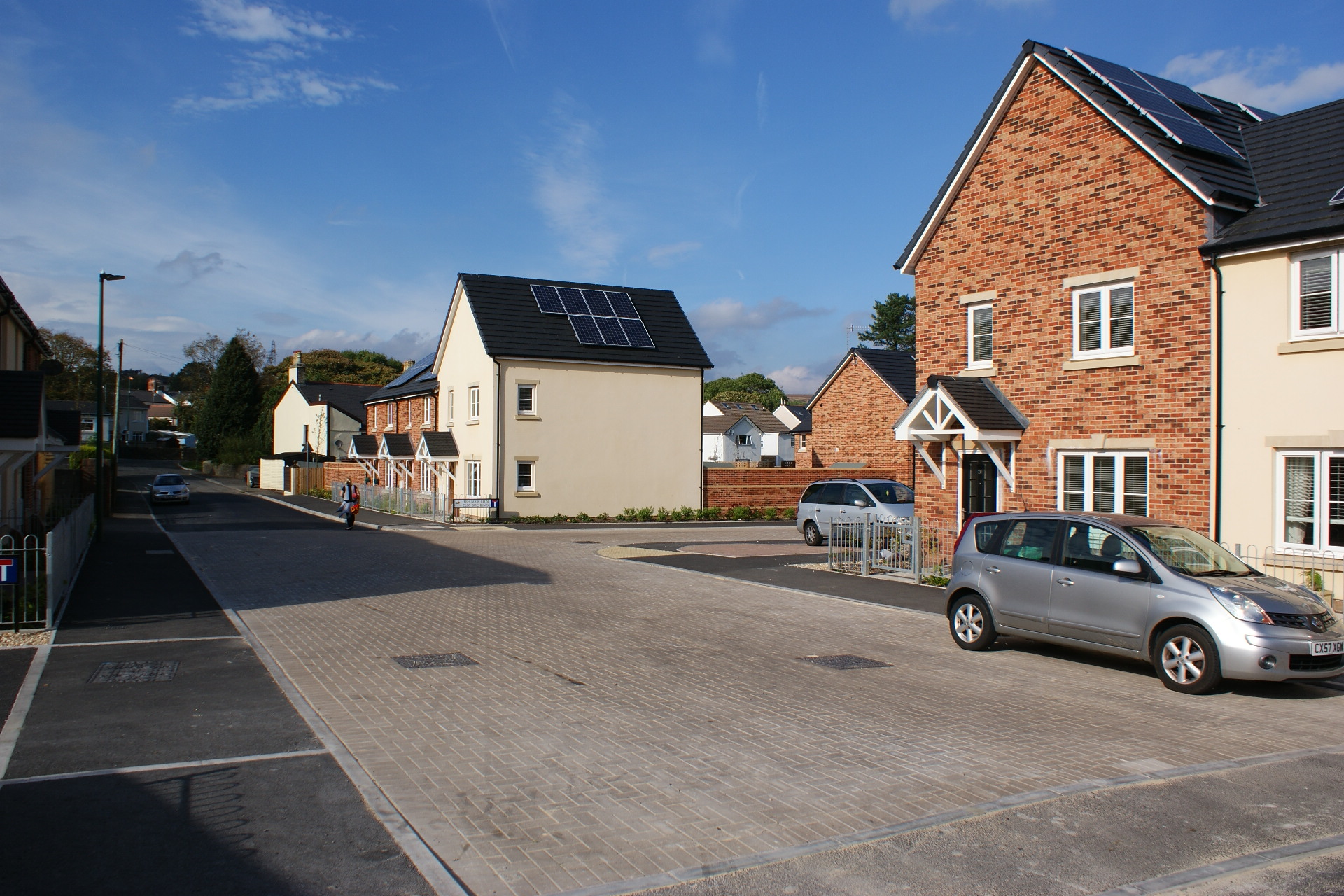 New homes around a shared space