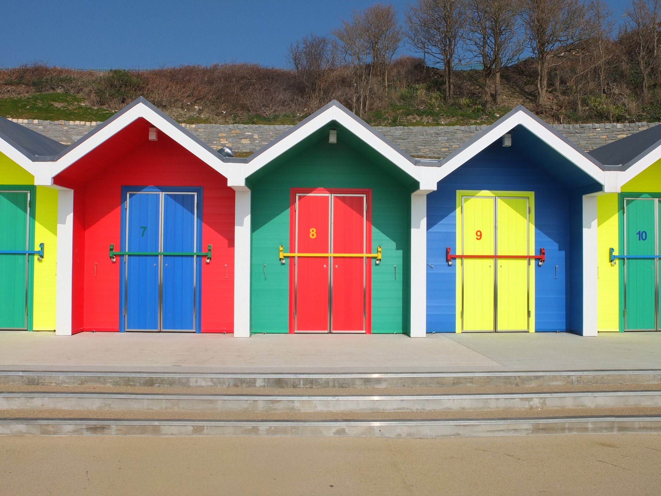 New beach huts at Barry Island