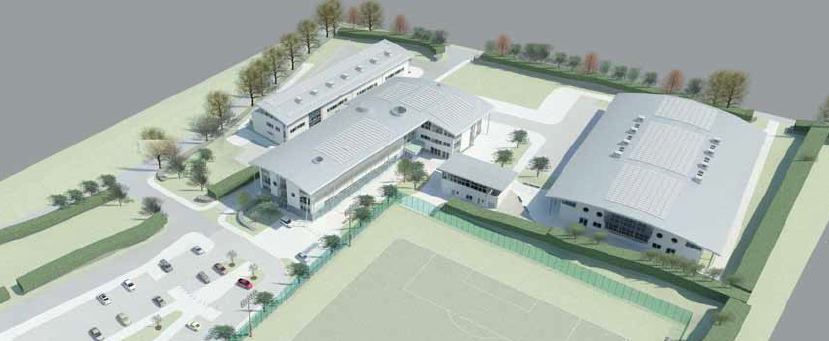 Overview of proposed campus (image courtesy of IBI Architecture)