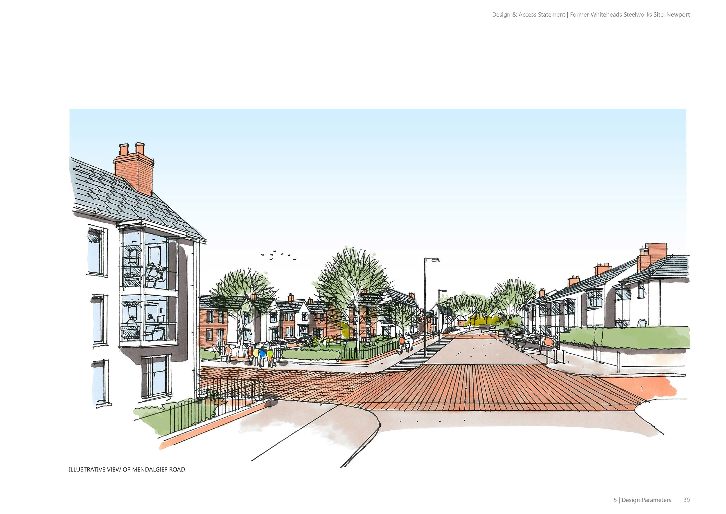 Proposed street scene