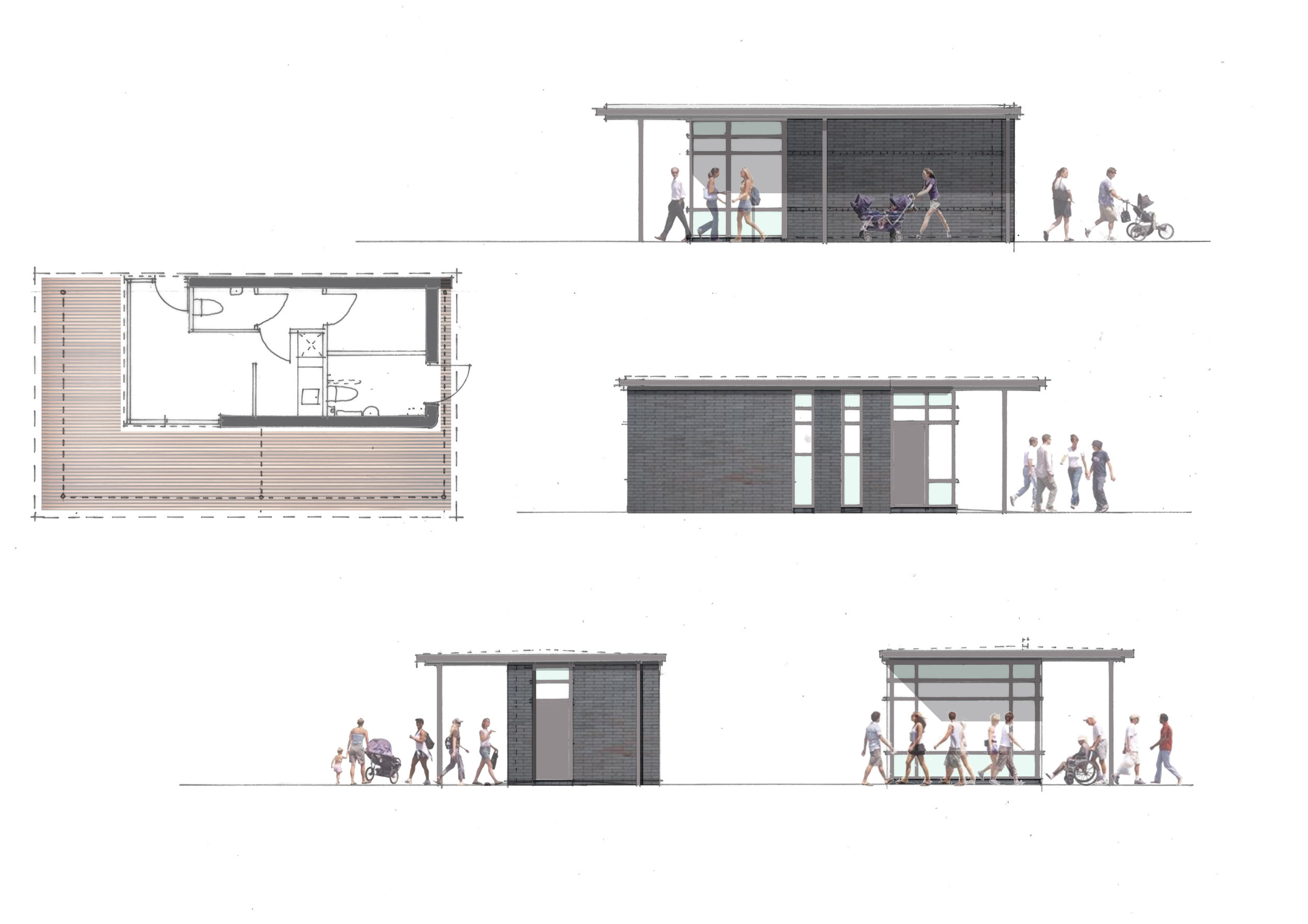Initial concept proposals for proposed ticket office