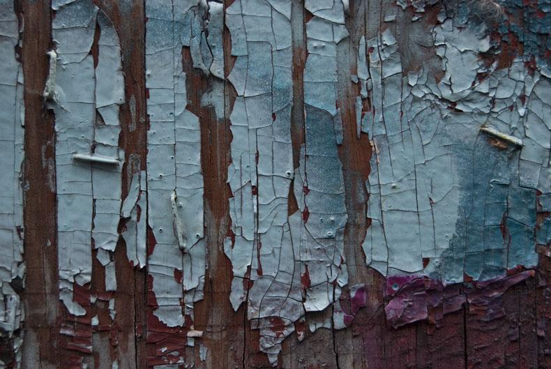 Abstract paint peeling