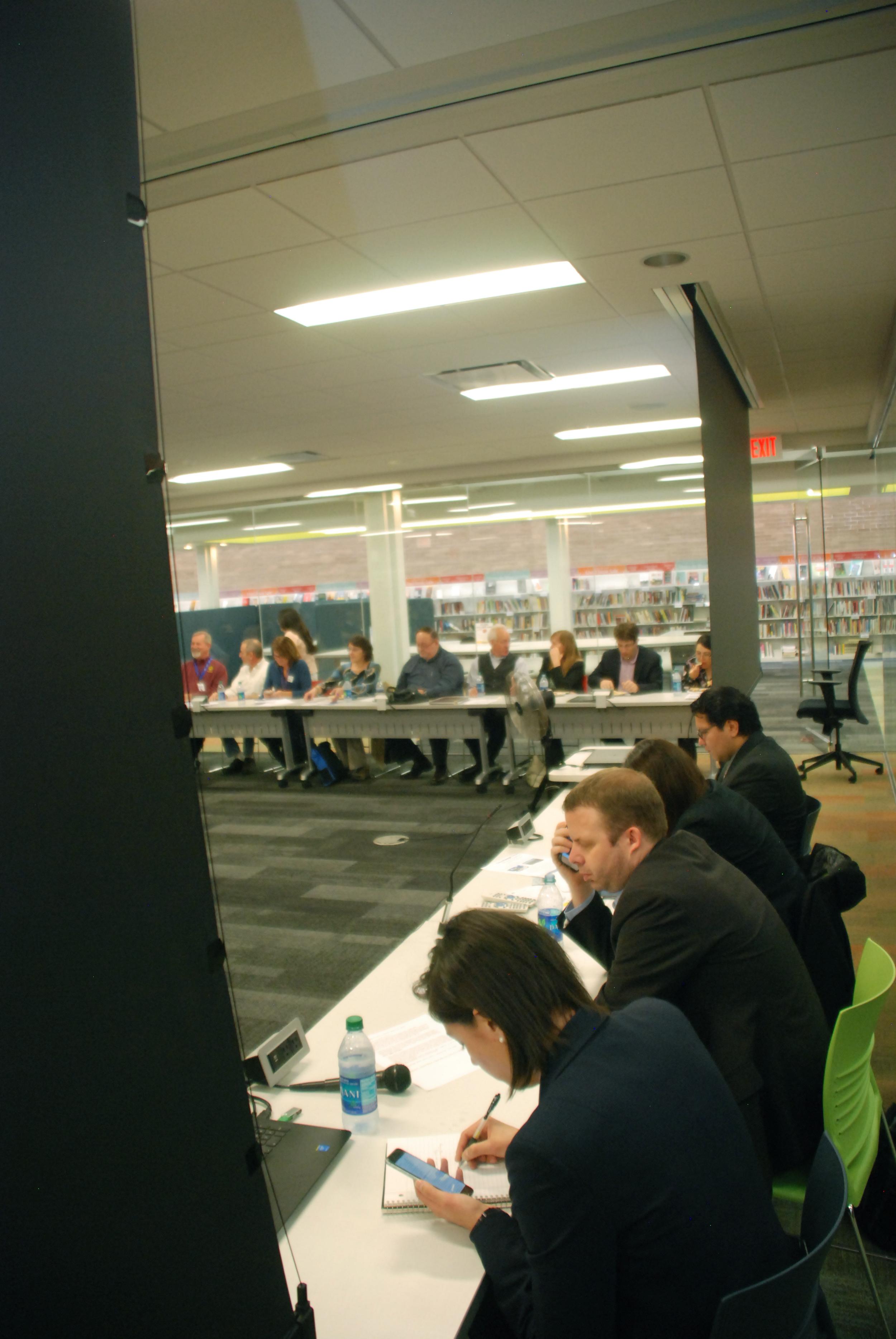 Panel preparing to speak