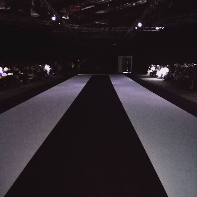 The runway at the London College of Fashion show. #lcf19