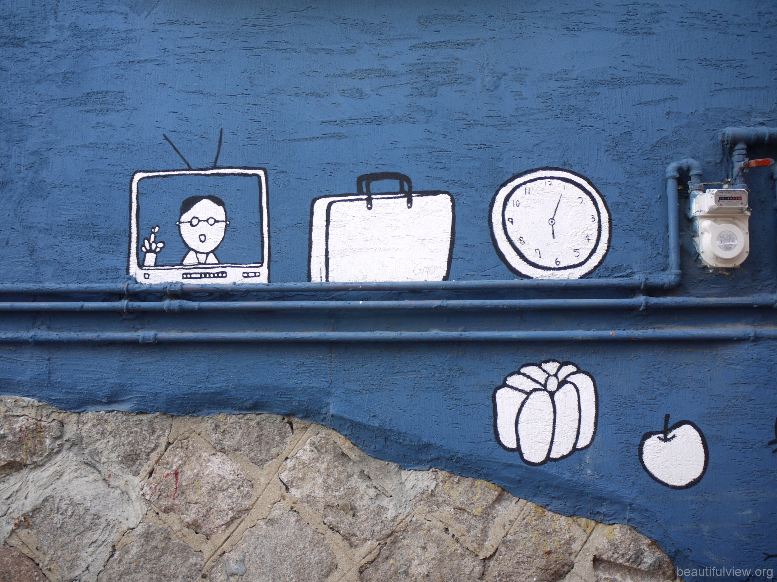 Ihwa Mural Village White Clock.jpg