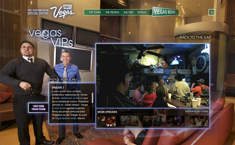 Vegasbound – Microsite