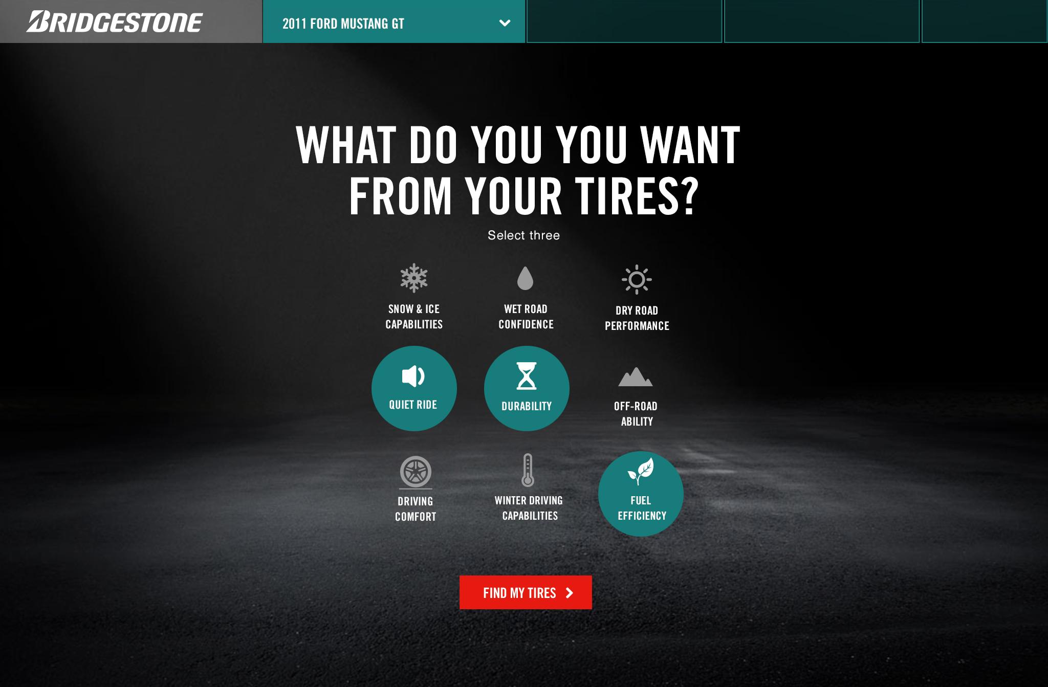 Tire advisor – selection